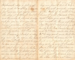 Letter written by Alfred 2Collis who was Henry Collis Brother from NSW