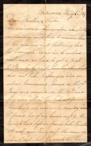 Letter written by Alfred Collis who was Henry Collis Brother from NSW