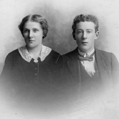 Roy Holt with wife Gertrude