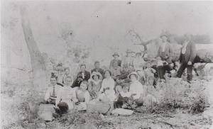 Robinson and others at a picnic