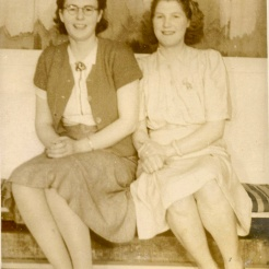 Dorothy and sister Joy, a beautiful photo of these sisters.