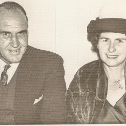 Dorothy with younger brother Jimmy Robinson junior. A lovely & sentimental family photo.