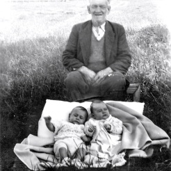 Walter with two grandsons