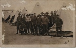 Taken on 23 October 1916 at Seymour Camp Victoria a group of the 7th Reinforcement of the 4th Machine Gun company, back of PC states consist of mainly Tasmanians. George on the very left with Dan standing behind him,