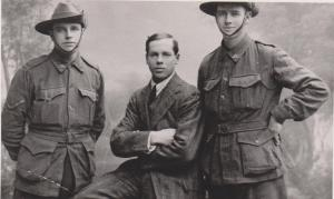 Dan and F.S. Bowman with George C Robinson on the right.